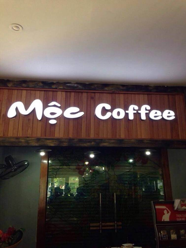 bang hieu cafe co den