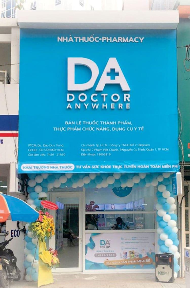 bảng hiệu nhà thuốc doctor anywhere